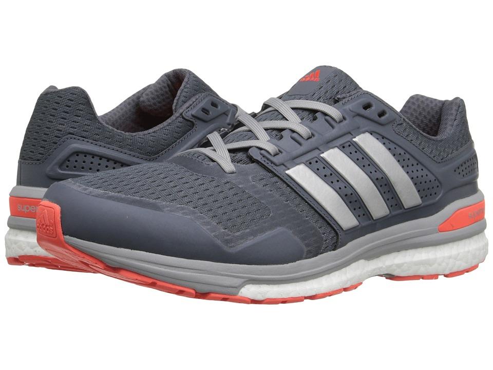 adidas Running - Supernova Sequence 8 (Onix/Silver Metallic/Solar Red) Men