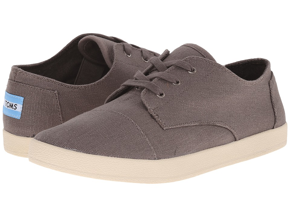 TOMS Paseo Ash Grey Canvas Womens Lace up casual Shoes
