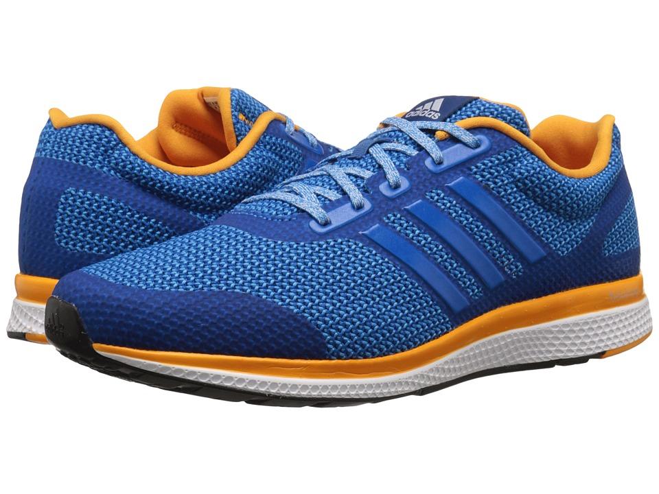 adidas Running Mana Bounce Shock Blue/EQT Orange/Crystal White Mens Running Shoes
