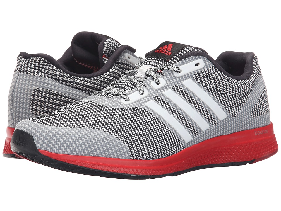 adidas Running Mana Bounce Crystal White/Black/Vivid Red Mens Running Shoes