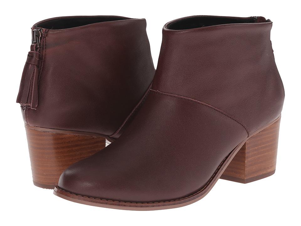 TOMS Leila Bootie (Oxblood Full Grain Leather) Women