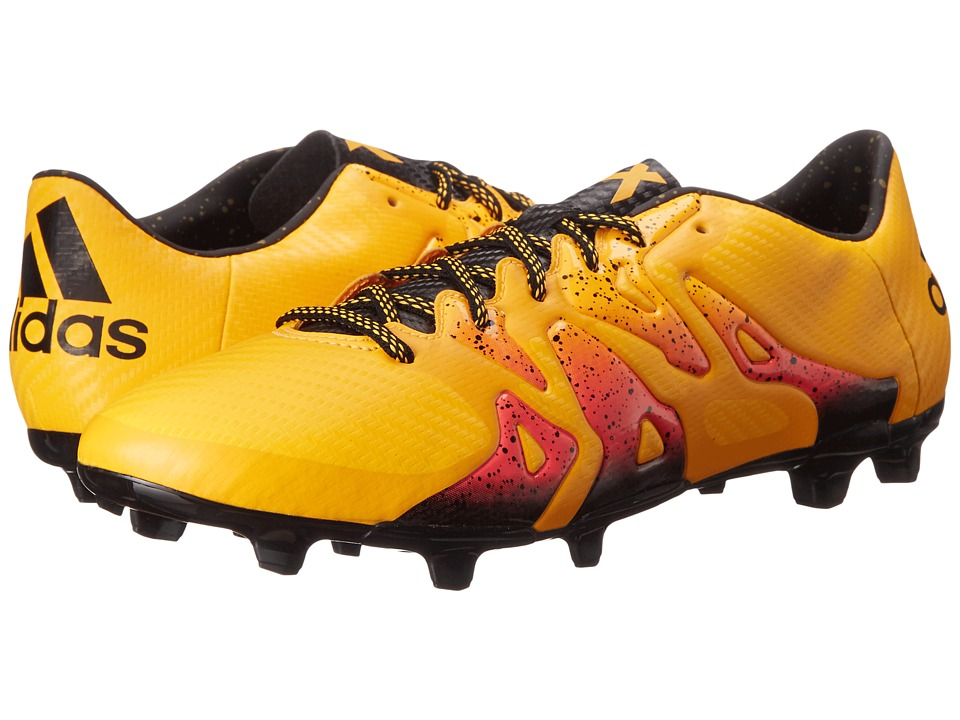 adidas X 15.3 FG/AG Solar Gold/Black/Shock Pink Mens Cleated Shoes