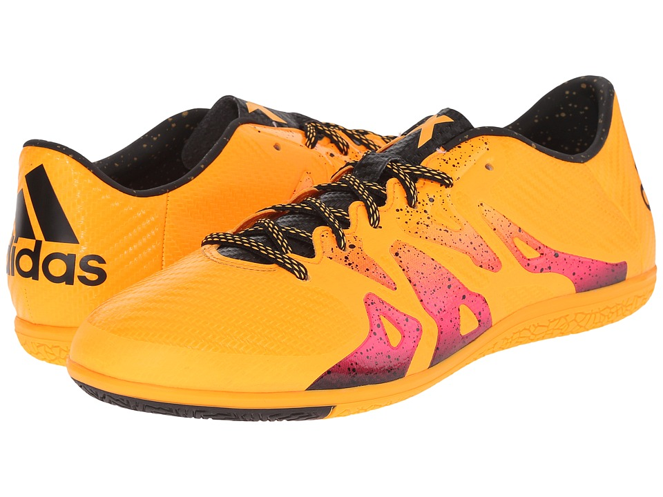 adidas X 15.3 IN Solar Gold/Black/Shock Pink Mens Soccer Shoes