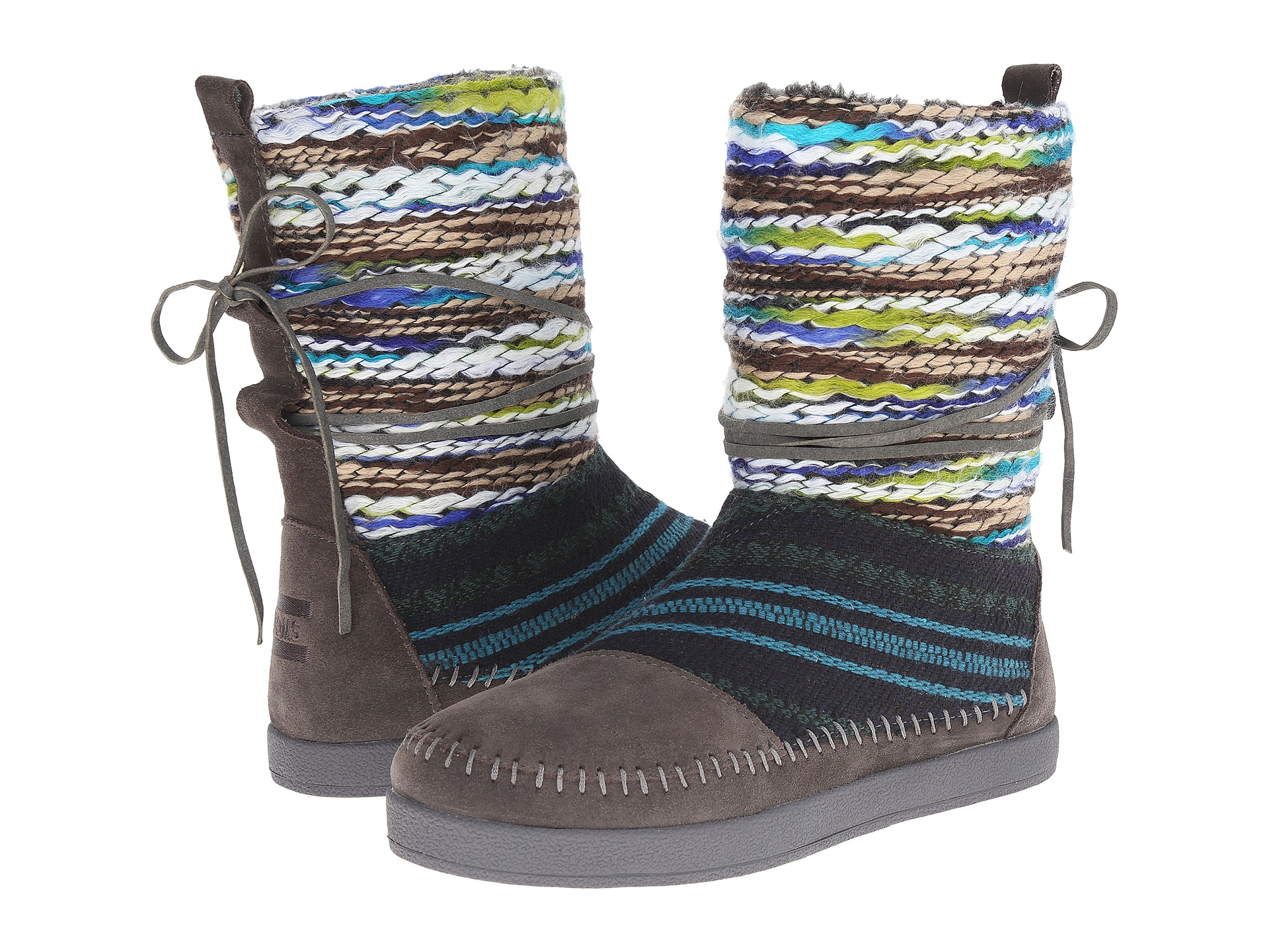 TOMS Nepal Boot Forged Iron Grey Suede Textile Mix - Zappos.com Free Shipping BOTH Ways