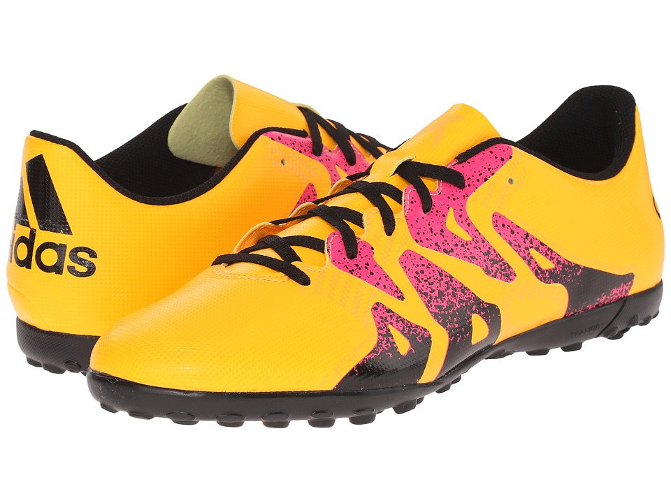 adidas X 15.4 TF Solar Gold/Black/Shock Pink Mens Soccer Shoes
