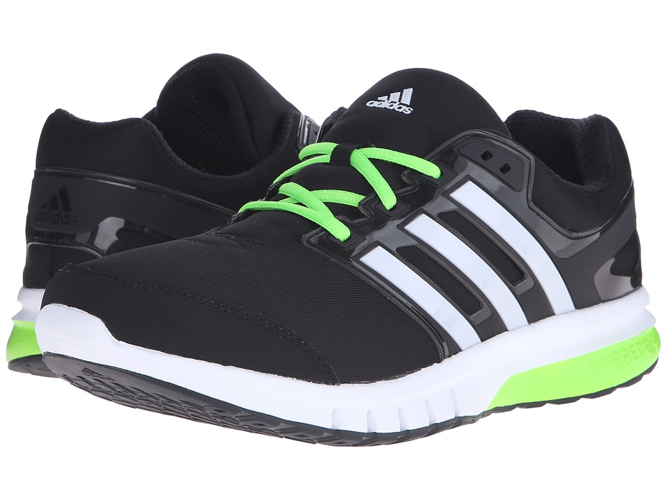 adidas Running Galaxy Elite 2 Black/White/Solar Green Mens Running Shoes