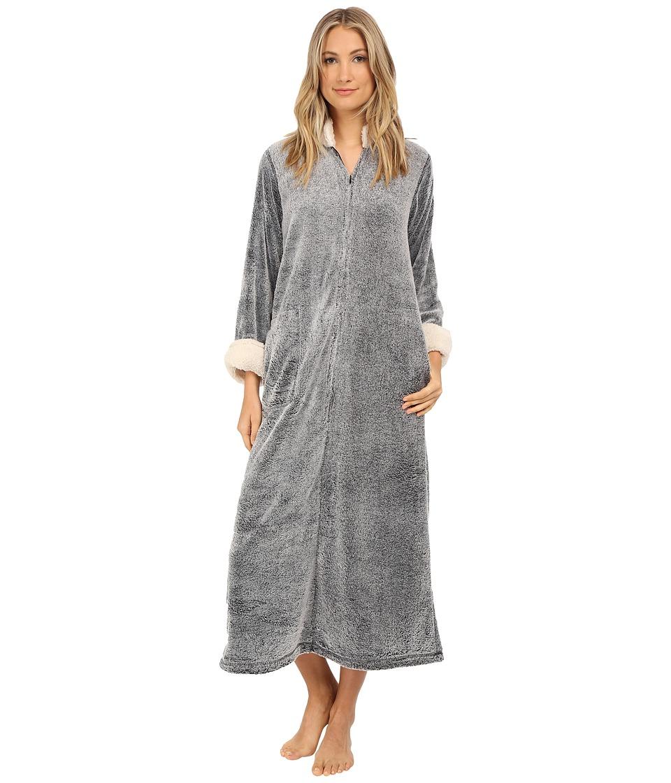 Natori Sherpa Caftan (Black) Women's Pajama