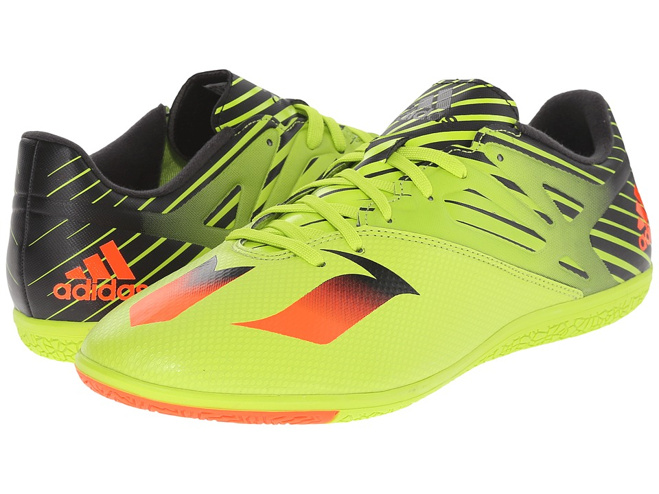 adidas Messi 15.3 IN Semi Solar Slime/Solar Red/Black Mens Shoes