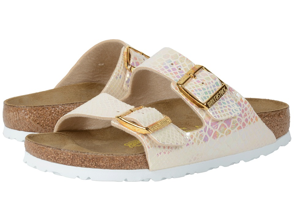 Birkenstock Arizona (Shiny Snake Cream Birko-Flor ) Women