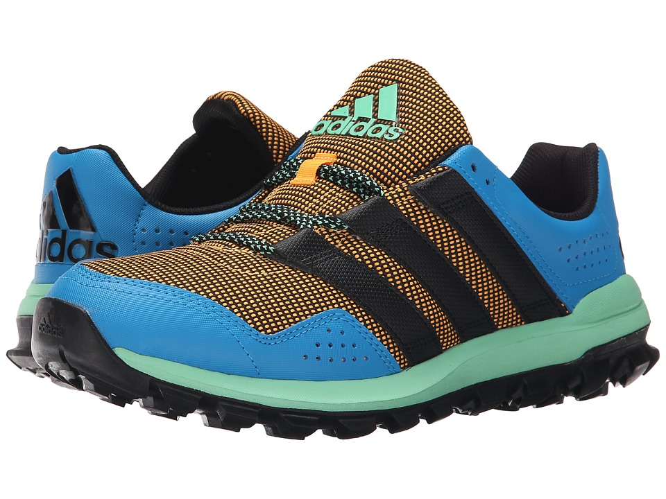 adidas Running - Slingshot Trail (Solid Gold/Solar Blue2/Green Glow) Mens Shoes