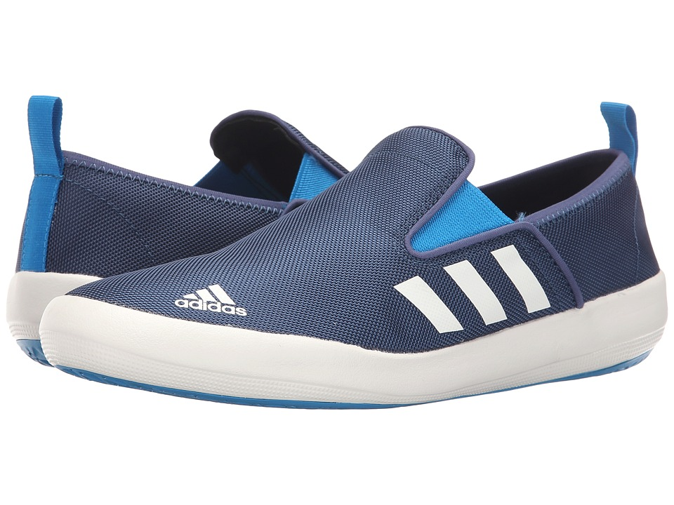 adidas Outdoor - B Slip-On DLX (Mineral Blue/White/Solar Blue) Mens Shoes
