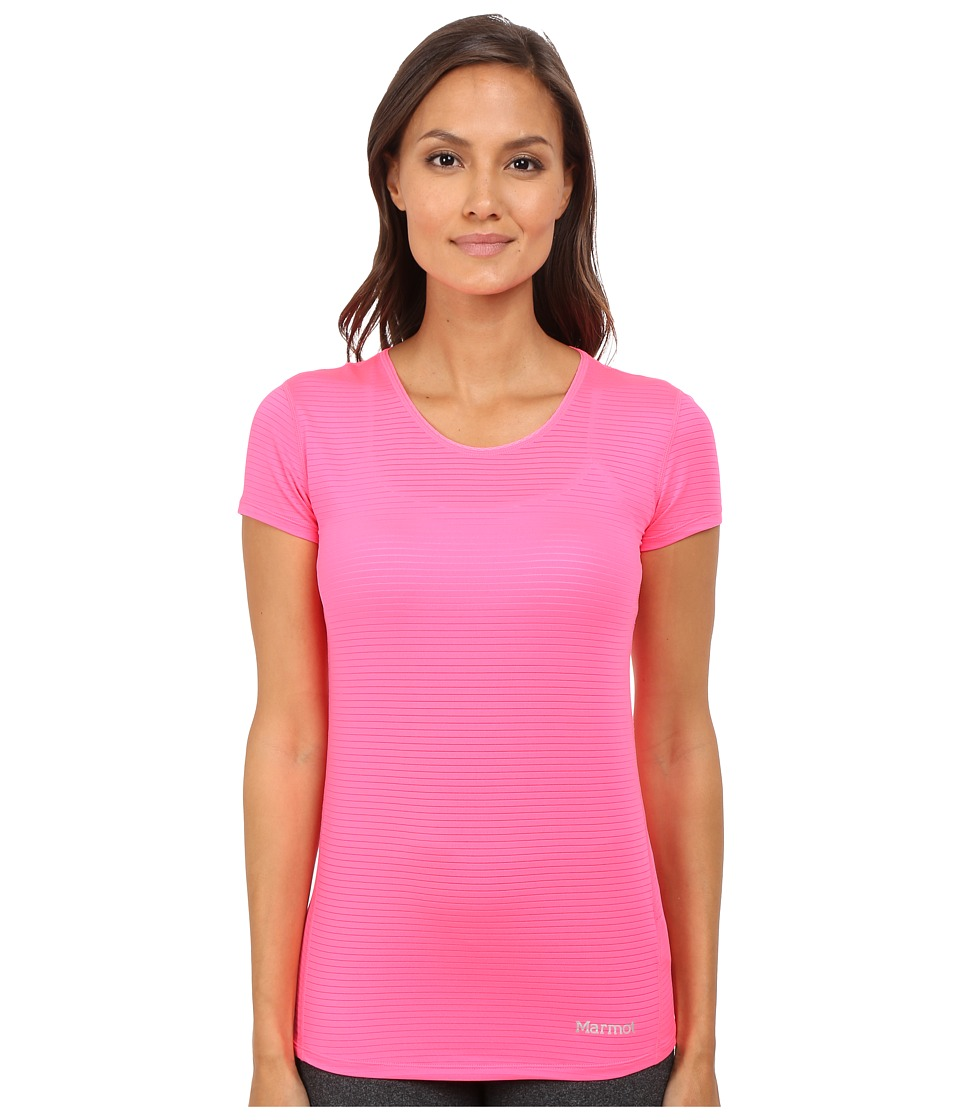 Marmot Aero Short Sleeve Kinetic Pink Womens T Shirt