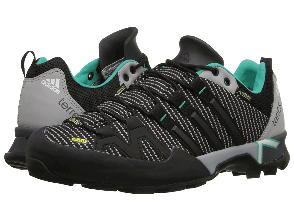 adidas Outdoor - Terrex Scope GTX (MGH Solid Grey/Black/Shock Mint) Womens Shoes