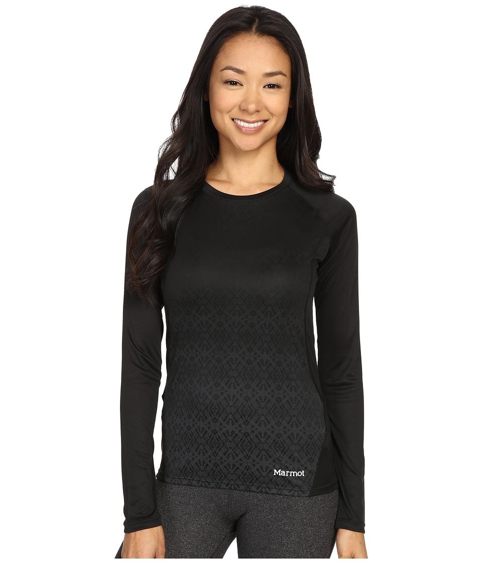 Marmot Crystal Long Sleeve Black Womens Long Sleeve Pullover
