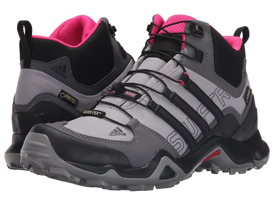 adidas Outdoor - Terrex Swift R Mid GTX (Shock Pink/Granite/Black) Womens Shoes