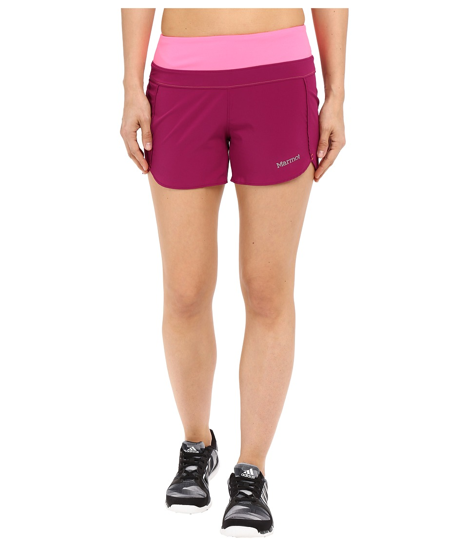 Marmot Circuit Shorts Wild Rose/Kinetic Pink Womens Shorts