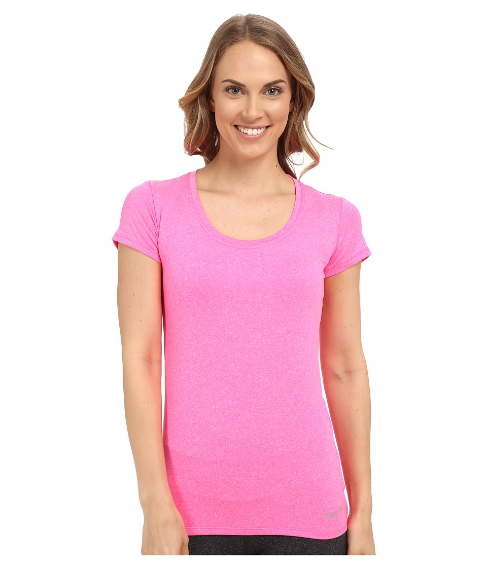 Marmot - All Around Tee S/S (Kinetic Pink Heather) Women