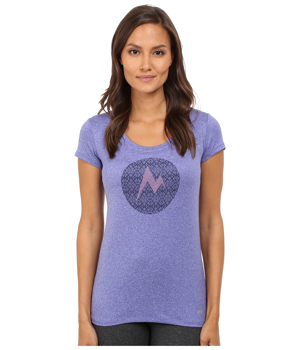 Marmot - Post Time Tee Short Sleeve (Gemstone Heather) Women