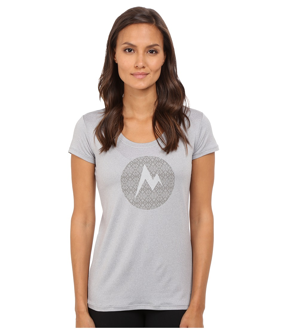 Marmot - Post Time Tee Short Sleeve (Steel Heather) Women