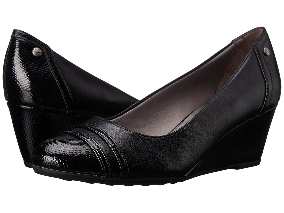 LifeStride Juliana (Black Vinci/Snake Patent) Women