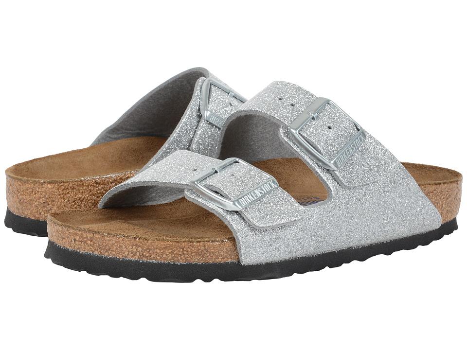 Birkenstock Arizona Soft Footbed Magic Galaxy Silver Birko Flor Womens Sandals