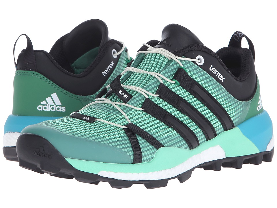 adidas Outdoor - Terrex Skychaser (Blanch Green/Black/Green Glow) Womens Shoes