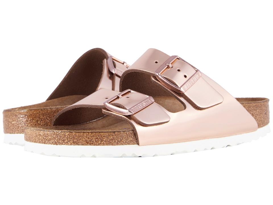 Birkenstock - Arizona Soft Footbed (Copper Leather) Womens Dress Sandals