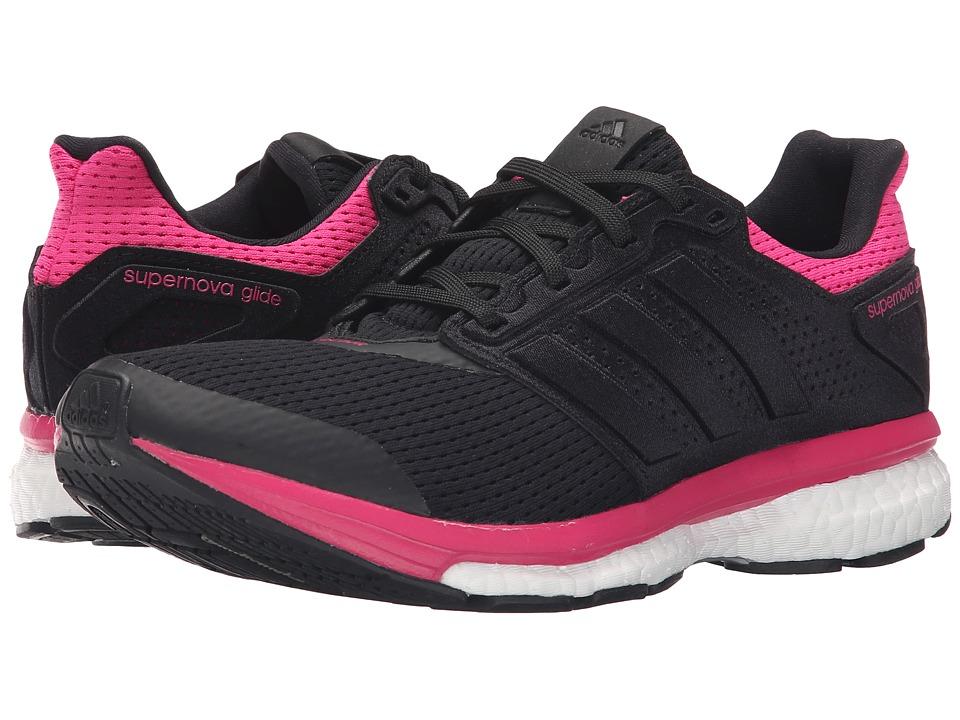 adidas Running Supernova Glide 8 W Black/EQT Pink Womens Running Shoes