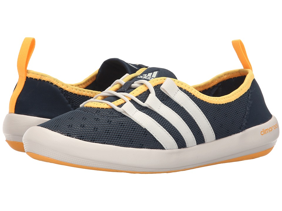 adidas Outdoor - CLIMACOOL Boat Sleek (Midnight/Chalk White/Solar Gold) Womens Shoes
