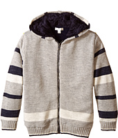 Pumpkin Patch Kids - Wheel Life Fleece Lined Stripe Hooded Jumper (Little Kids/Big Kids)