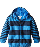 Pumpkin Patch Kids - Wheel Life Fleece Lined Stripe Hooded Jumper (Infant/Toddler/Little Kids)