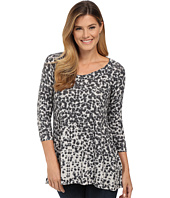 Nally & Millie - Animal Printed Ribbed Tunic
