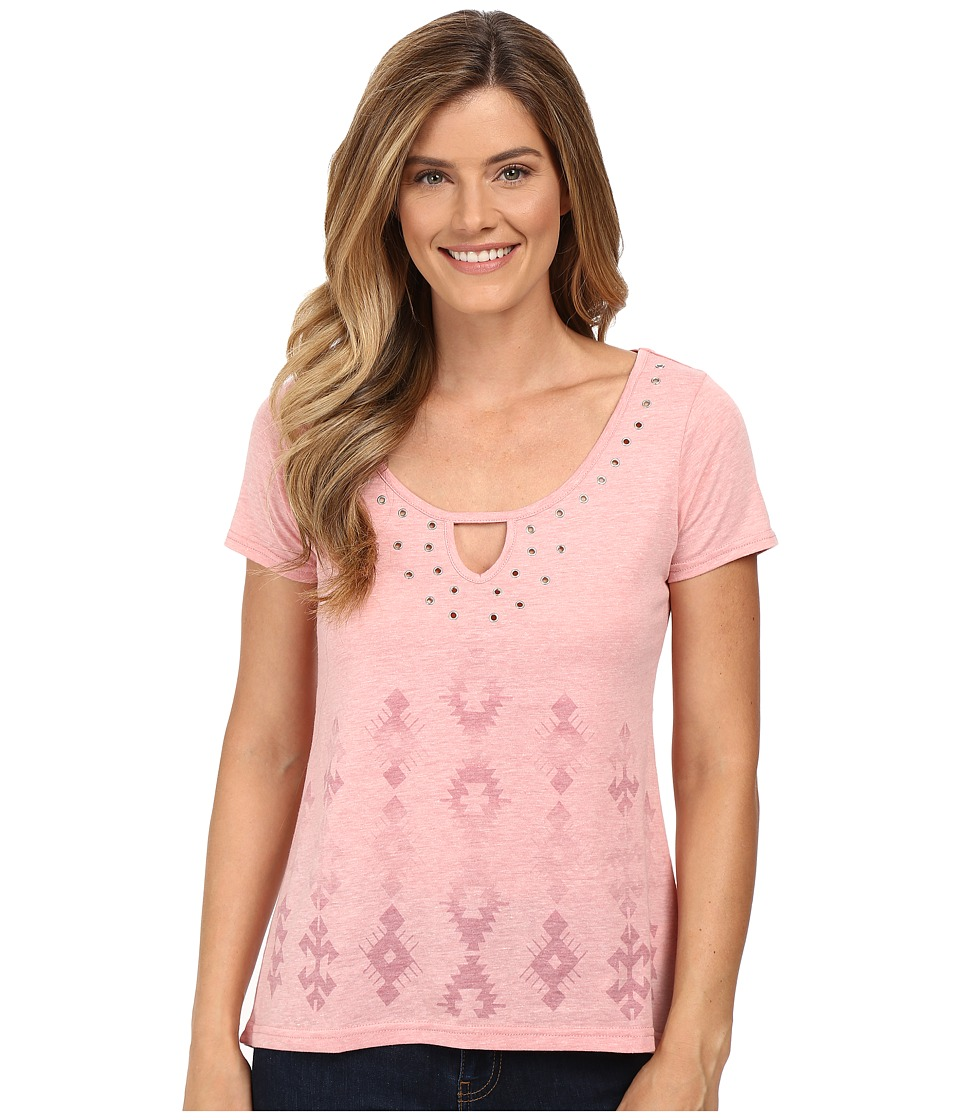 Roper - 0227 Heather Jersey Hi-Lo Tee (Pink) Women