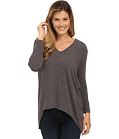 Nally & Millie - V-Neck High-Low Sweater Tunic