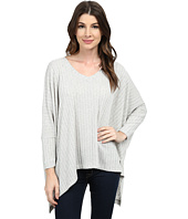 Nally & Millie - V-Neck Ribbed Poncho