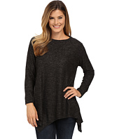 Nally & Millie - Asymmetric Hem Brushed Sweater Tunic