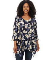 Nally & Millie - Plus Size Floral Sweater Tunic