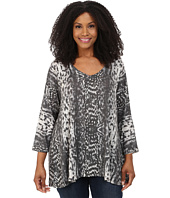 Nally & Millie - Plus Size Animal Print Tunic