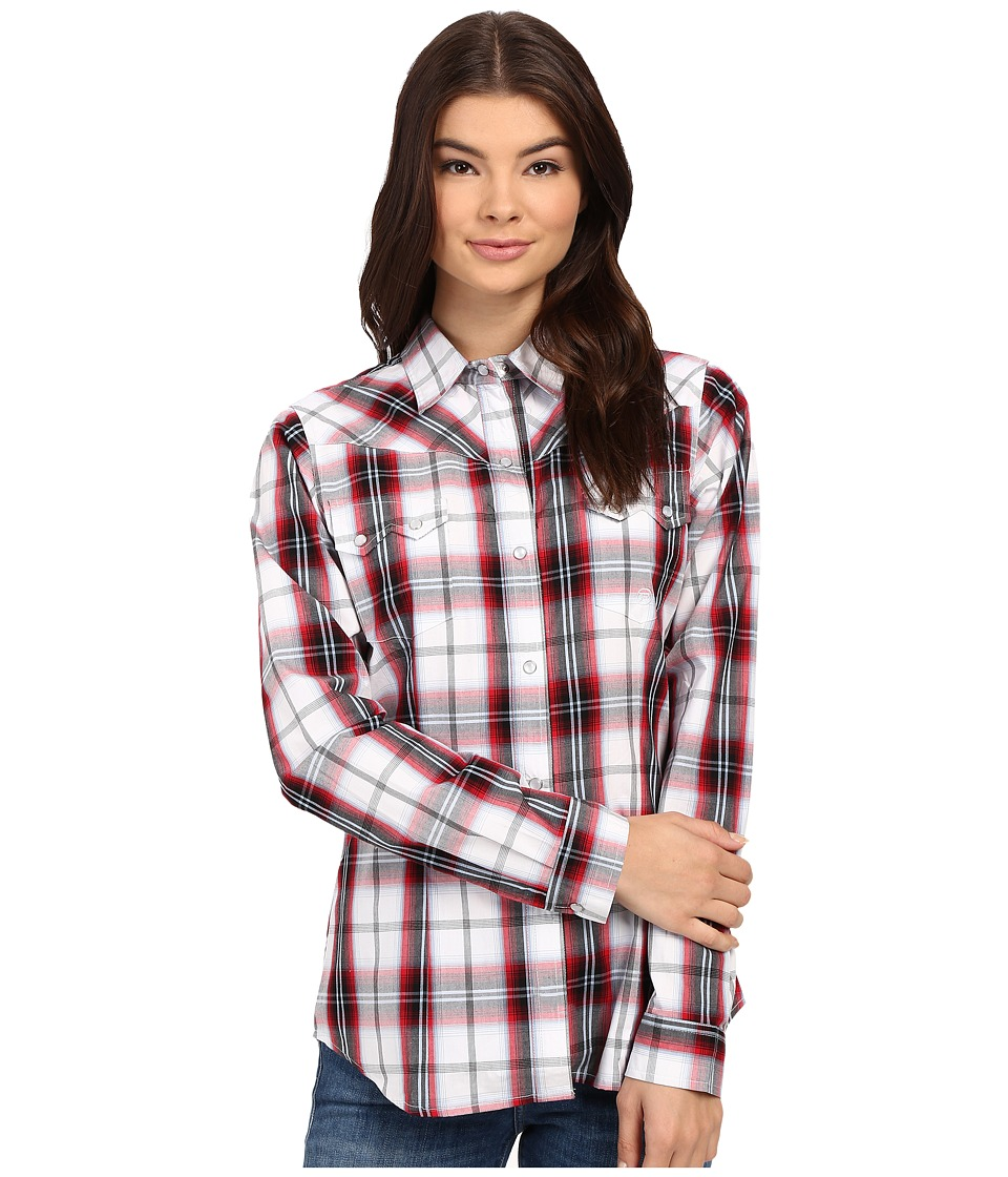 Roper 0167 Portofino Plaid Blue Womens Clothing
