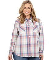 Roper - Plus Size 0200 Ombre Plaid Shirt