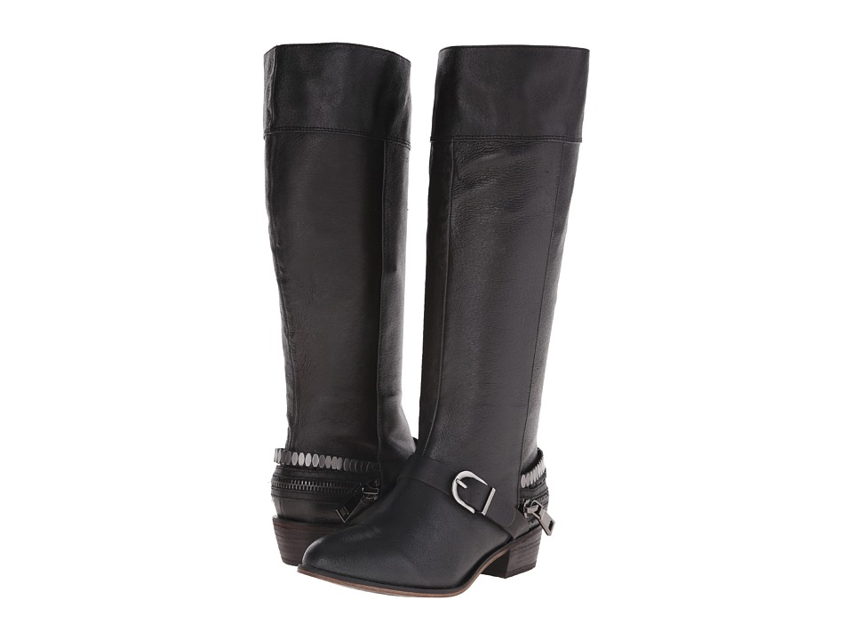 Chinese Laundry - Solar Knee High Buckled Boot (Black Leather) Women