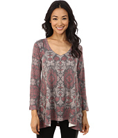 Nally & Millie - Renaissance Print V-Neck Tunic