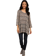 Nally & Millie - Black Cream Ikat Tunic