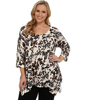 Nally & Millie - Plus Size Ditsy Floral Tunic