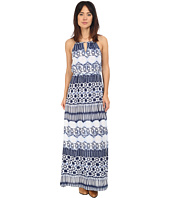 Roper - 0235 Aztec Stripe Printed Maxi Dress