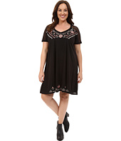 Roper - Plus Size 0231 Poly Slub Jersey Dress