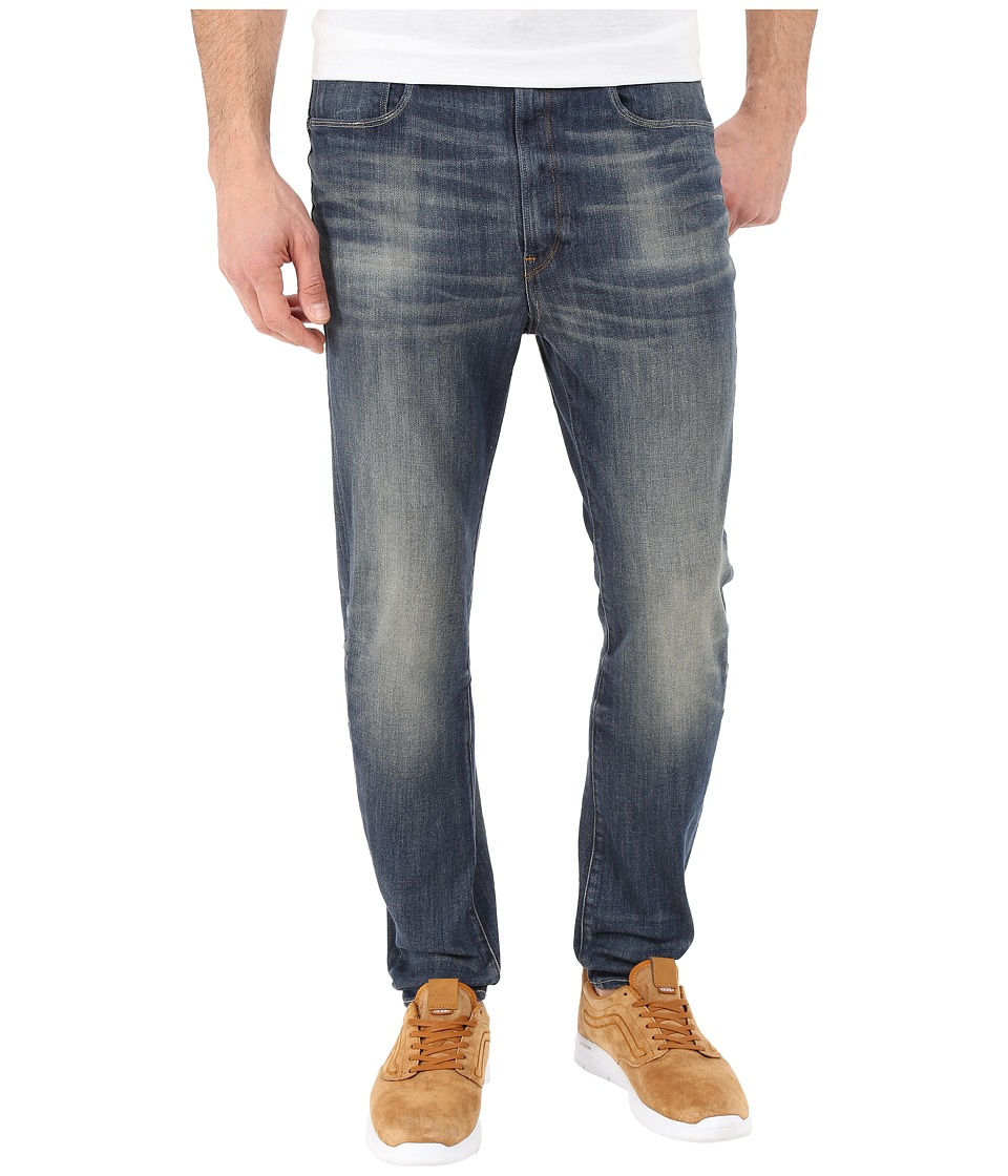 G Star Type C 3D Super Slim in Blue Delm Stretch Denim Dark Aged Antic Blue Delm Stretch Denim Dark Aged Antic Mens Jeans
