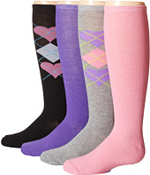 Steve Madden - 4-Pack Fashion Knee Highs (Toddler/Little Kid/Big Kid)