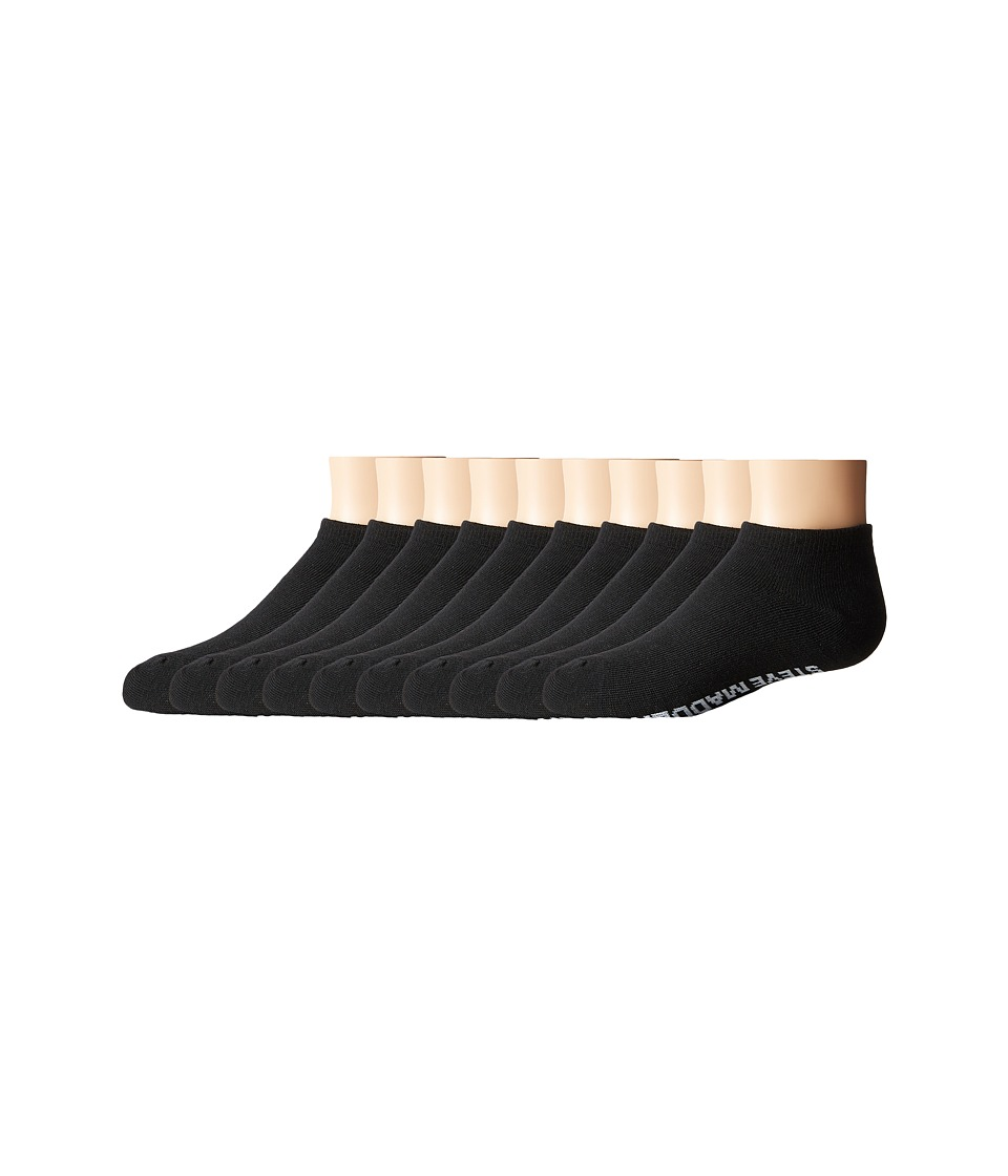 Steve Madden - 10-Pack Solid Low Cut Socks (Toddler/Little Kid/Big Kid) (Black) Women