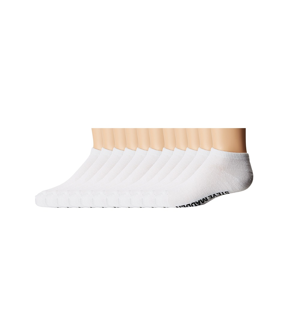 Steve Madden - 10-Pack Solid Low Cut Socks (Toddler/Little Kid/Big Kid) (White) Women